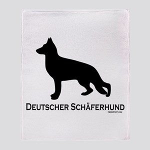 Deutscher Schaferhund Throw Blanket