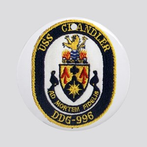 USS CHANDLER Ornament (Round)