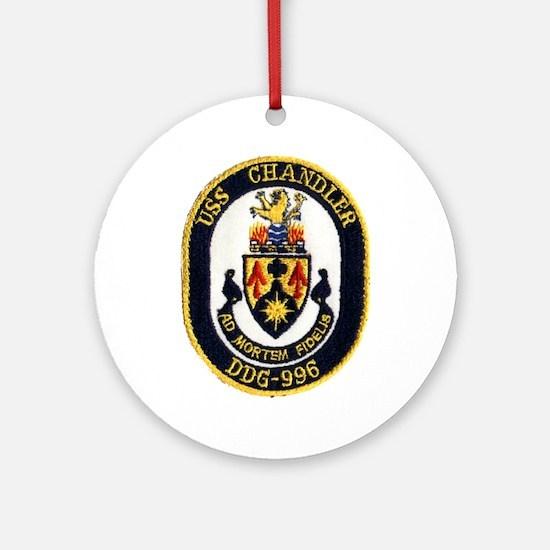USS CHANDLER Ornament (Round)