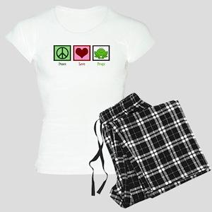 Peace Love Frogs Women's Light Pajamas
