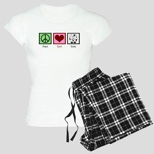 Peace Love Cows Women's Light Pajamas