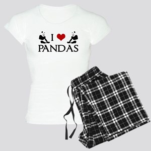 I Heart Pandas Women's Light Pajamas
