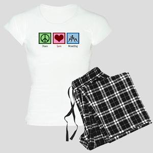 Peace Love Wrestling Women's Light Pajamas