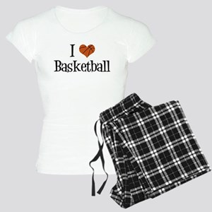 I Heart Basketball Women's Light Pajamas