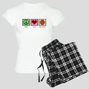 Peace Love Basketball Women's Light Pajamas