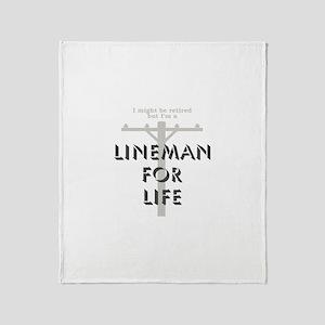Retired Lineman Throw Blanket