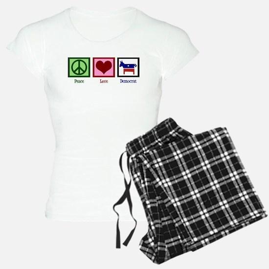 Peace Love Democrat Pajamas