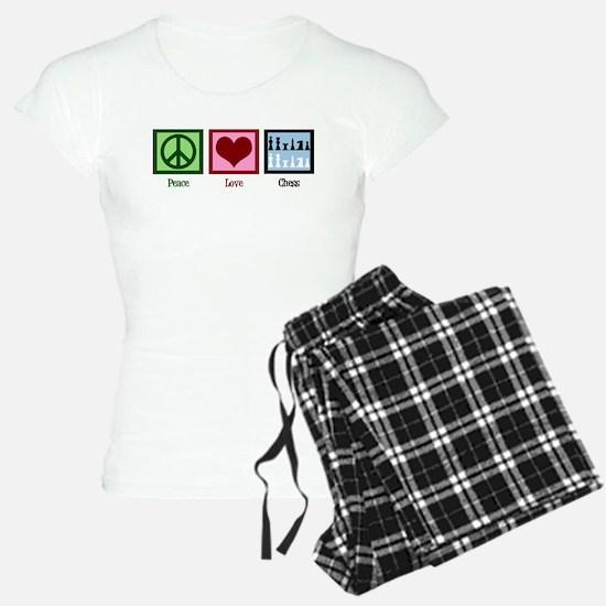 Peace Love Chess Pajamas