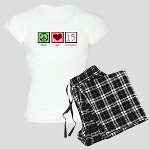 Peace Love Fifteen Women's Light Pajamas