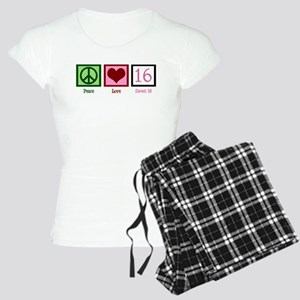 Peace Love Sweet 16 Women's Light Pajamas