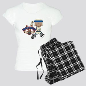 AA Boy Hockey Player Women's Light Pajamas