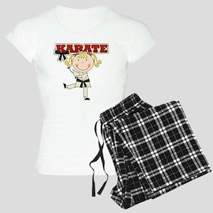 Blond Girl Karate Kid Women's Light Pajamas