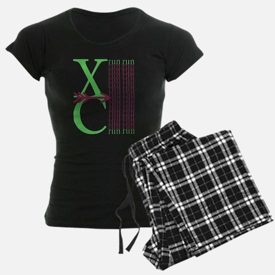 XC Run Light Green Maroon Pajamas