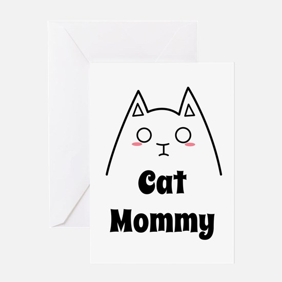 Love My Cat Mommy Greeting Cards