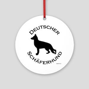 Deutscher Schaferhund Ornament (Round)