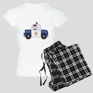 Police Officer in Cruiser Women's Light Pajamas