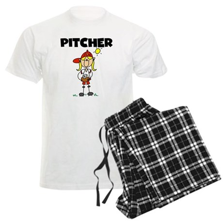 Girl Baseball Pitcher Men's Light Pajamas