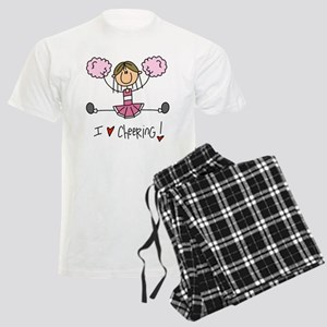 Pink Love Cheering Men's Light Pajamas