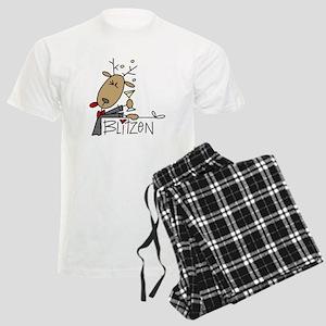 Blitzen Reindeer Men's Light Pajamas