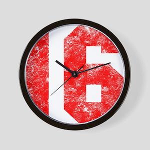 16th Birthday Wall Clock