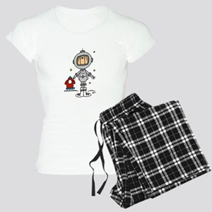 Stick Figure Astronaut Women's Light Pajamas