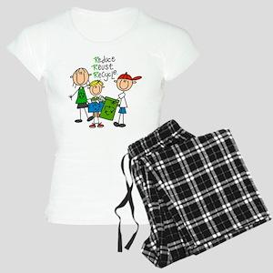 Reduce, Reuse, Recycle Women's Light Pajamas