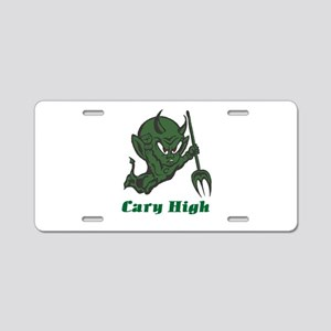 Cary High Green Imp Aluminum License Plate