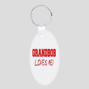 GrandBob Aluminum Oval Keychain