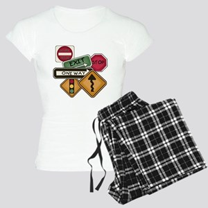 Road Signs Women's Light Pajamas