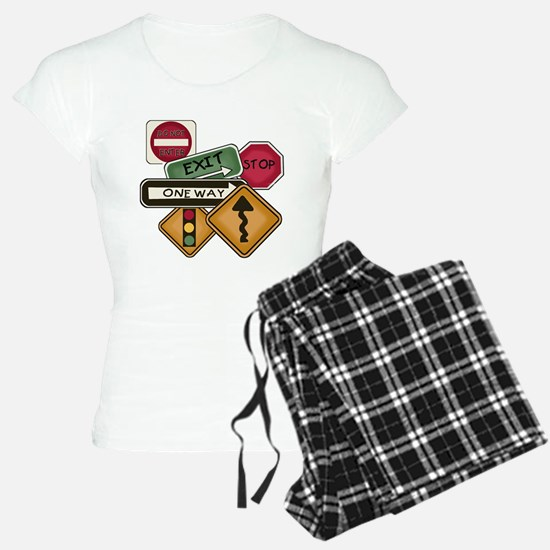 Road Signs Pajamas