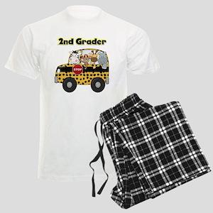 Zoo Animals 2nd Grade Men's Light Pajamas