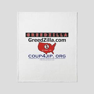 Greedzilla Map Throw Blanket