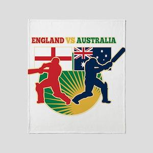 Cricket England Australia Throw Blanket