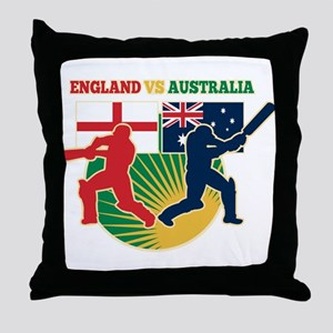 Cricket England Australia Throw Pillow