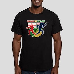 Cricket England Australia Men's Fitted T-Shirt (da