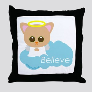 """Believe"" Throw Pillow"