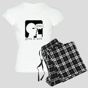 Shhh Genius at Work Women's Light Pajamas