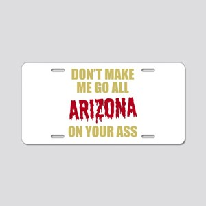 Arizona Baseball Aluminum License Plate