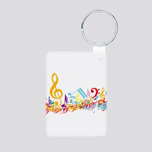 Mixed Musical Notes (color) Aluminum Photo Keychai