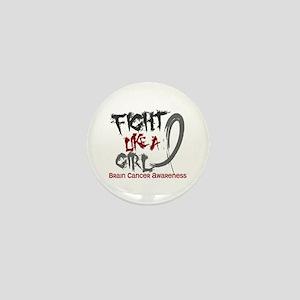 Licensed Fight Like a Girl 5.3 Brain C Mini Button