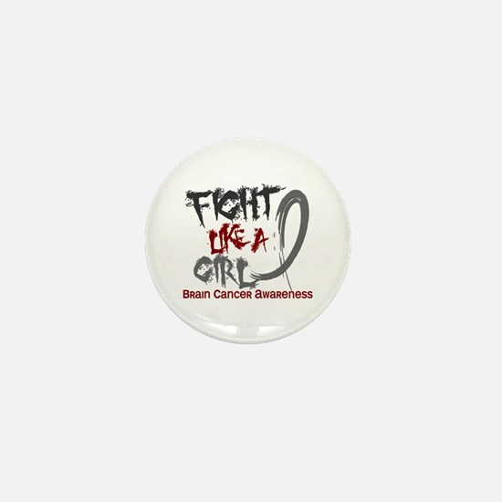 Licensed Fight Like a Girl 5.3 Brain C Mini Button