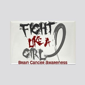 Licensed Fight Like a Girl 5.3 Br Rectangle Magnet