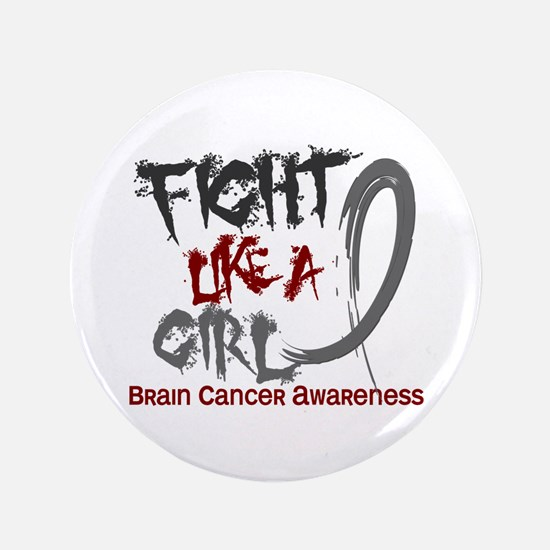 "Licensed Fight Like a Girl 5.3 Brain C 3.5"" Button"