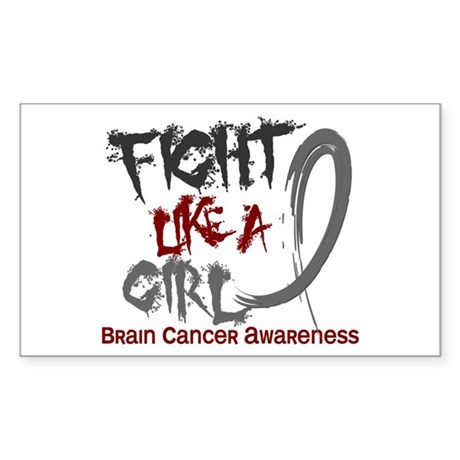 Licensed Fight Like a Girl 5.3 Sticker (Rectangle)