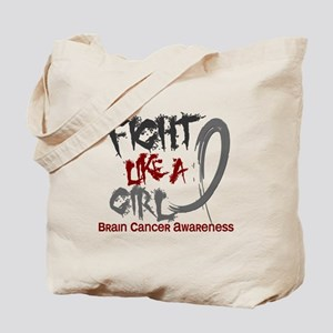 Licensed Fight Like a Girl 5.3 Brain Canc Tote Bag