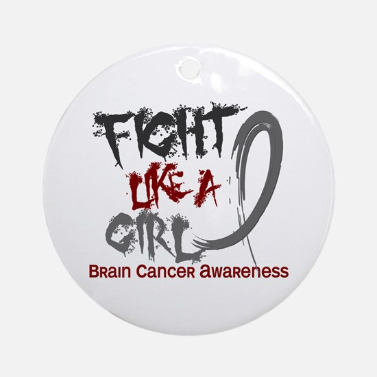 Licensed Fight Like a Girl 5.3 Br Ornament (Round)