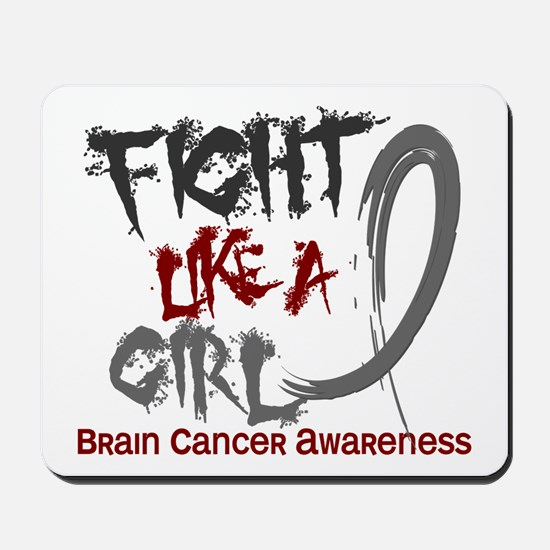 Licensed Fight Like a Girl 5.3 Brain Can Mousepad