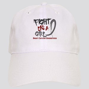 Licensed Fight Like a Girl 5.3 Brain Cancer Cap