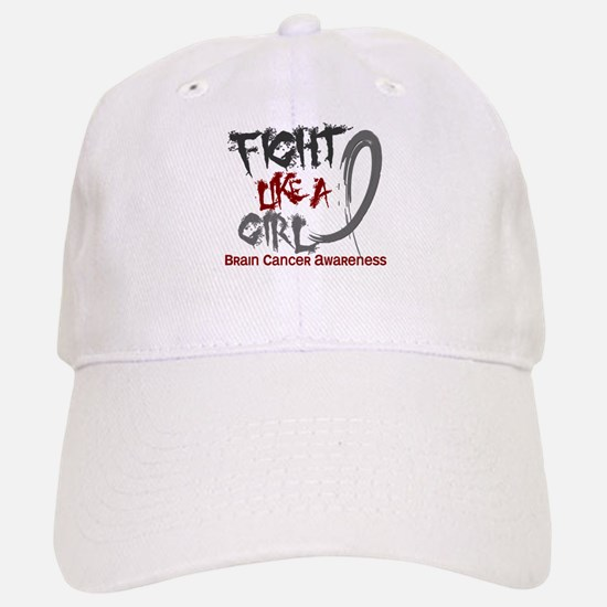 Licensed Fight Like a Girl 5.3 Brain Cancer Baseball Baseball Cap