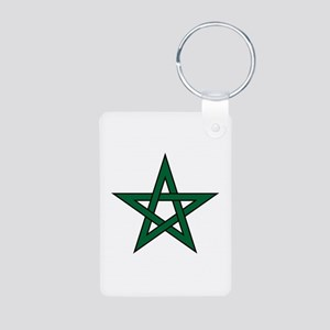 Morocco Star Aluminum Photo Keychain